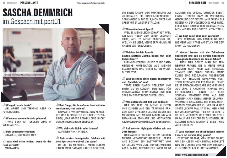 Interview PORT 01 (Ausgabe März 2018)