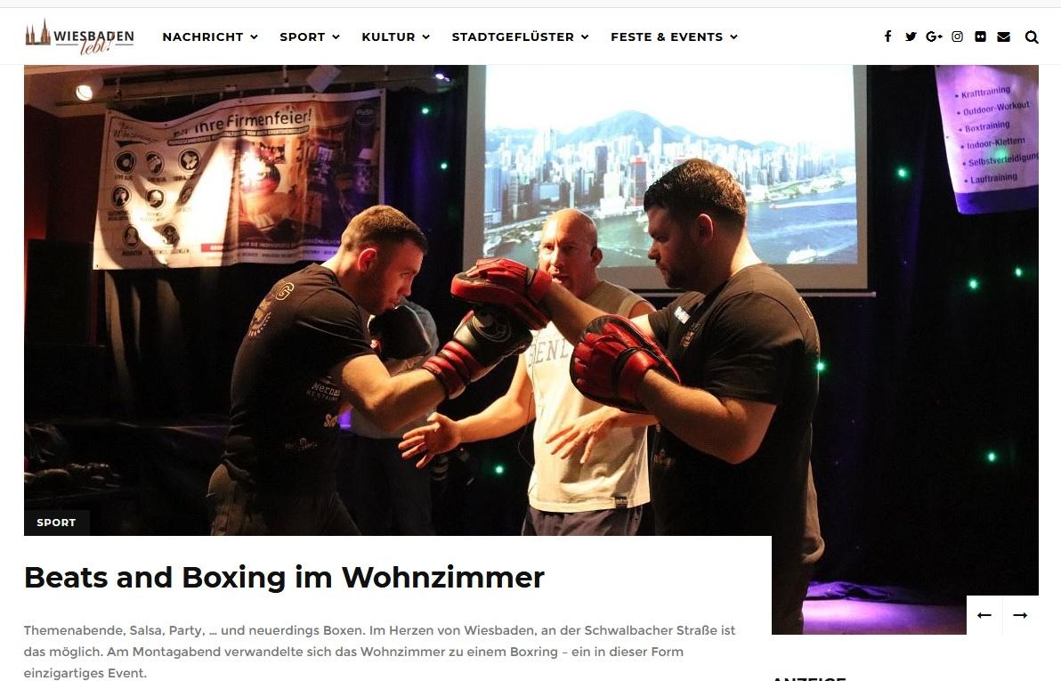 Wiesbaden lebt Bericht Beats and Boxing II (6.3.2018)