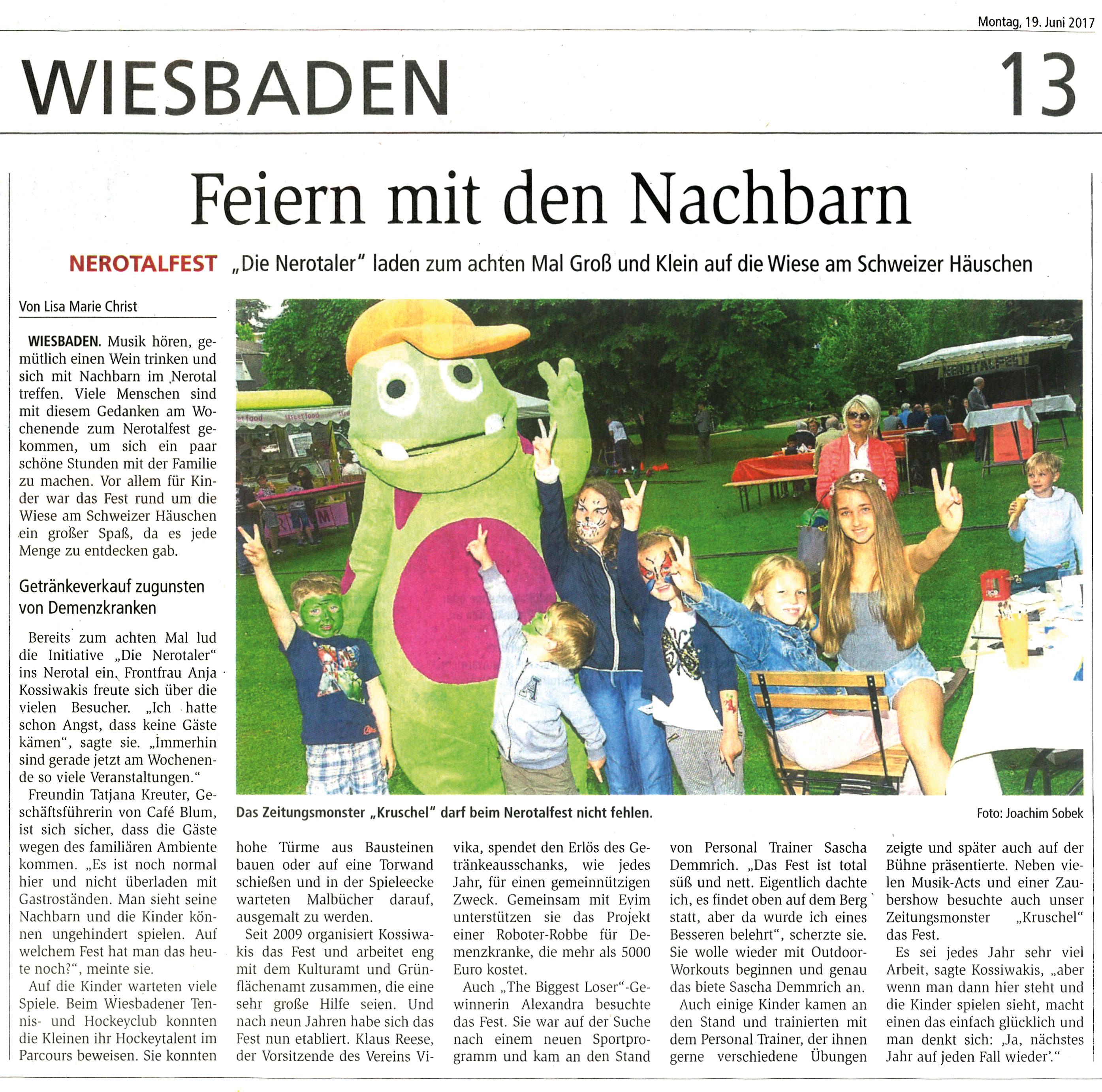 Nerotalfest WK Bericht 19.6.2017